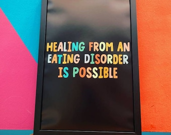 Healing From An Eating Disorder is Possible Poster 11x17 Recovery Poster Print Nalgona Positivity Pride Poster Survivor