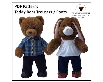 Sewing pattern couture Teddy Vêtements écolier uniforme Fits Build a Bear