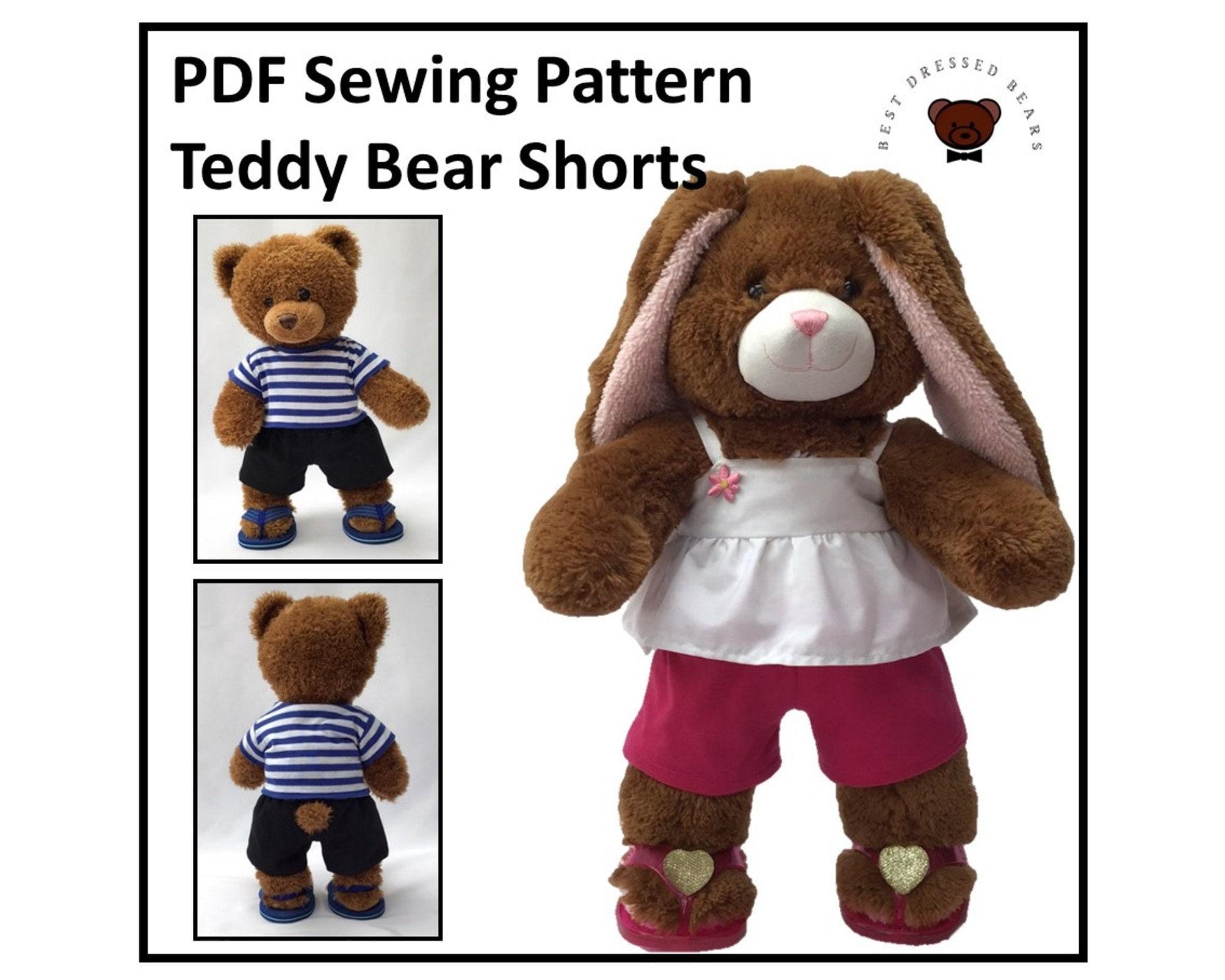 Teddy Bear Coin Purse PDF Sewing Pattern