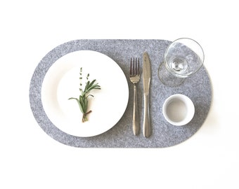 Set Oval  Placemats/Table protector /Dining table sets/ Modern Felt Placemat / Minimalist /Table cover