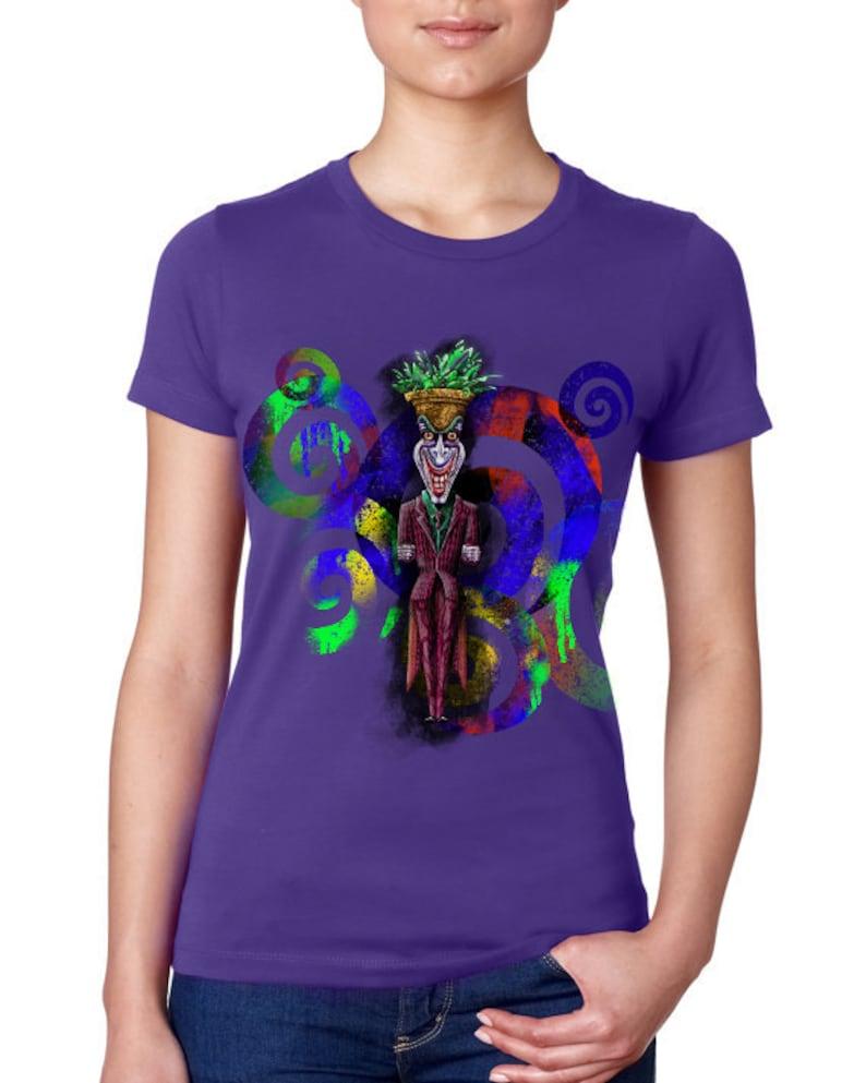 e5291a3d0 Joker Batman Tshirt T-shirt Tiki Art Heath Ledger Harley | Etsy