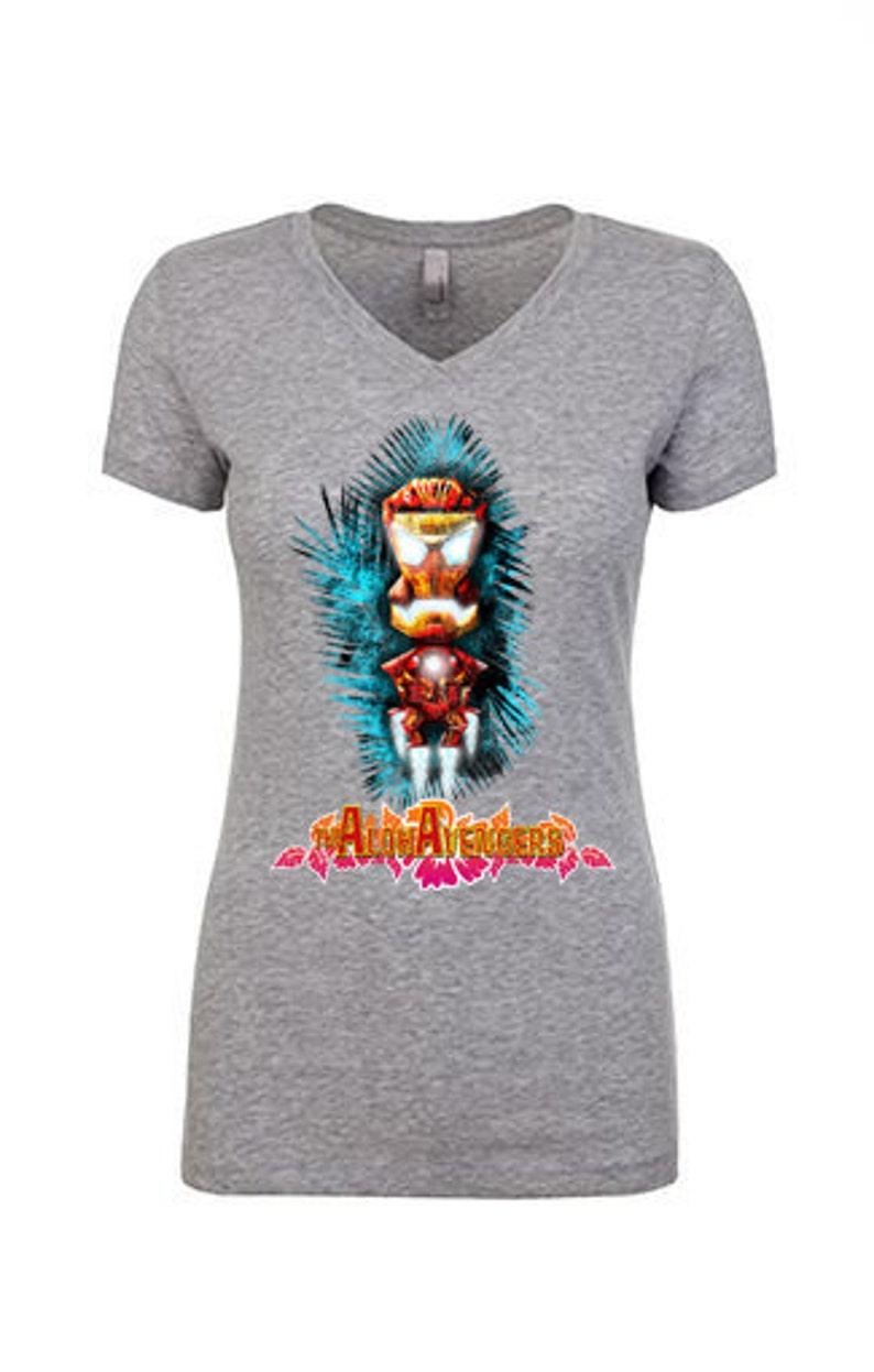 87a70b608 Iron Man Ladies T-shirt Tiki Tshirt Civil War Marvel | Etsy