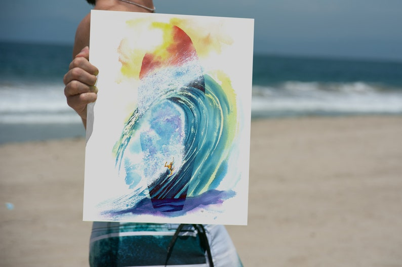 dc33884020e9 Surfboard Art Wave Art Surf Art Print Surfer Tropical Art