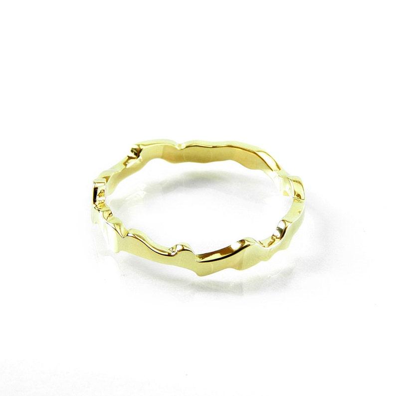 Ocean Ring Minimalist Alternative Ring Golden Ring Brass Ring Band Friendship BFF teen Valentine/'s gift for her Brass Stacking Ring