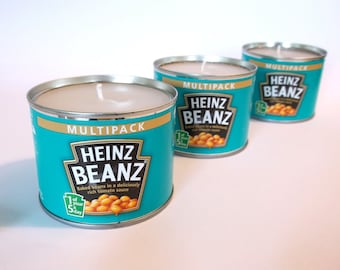 Candle in a Heinz Baked Bean Tin