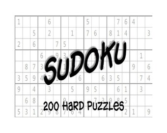 Medium Hard Sudoku Puzzles Answer Keys E Book 200 Printable Etsy