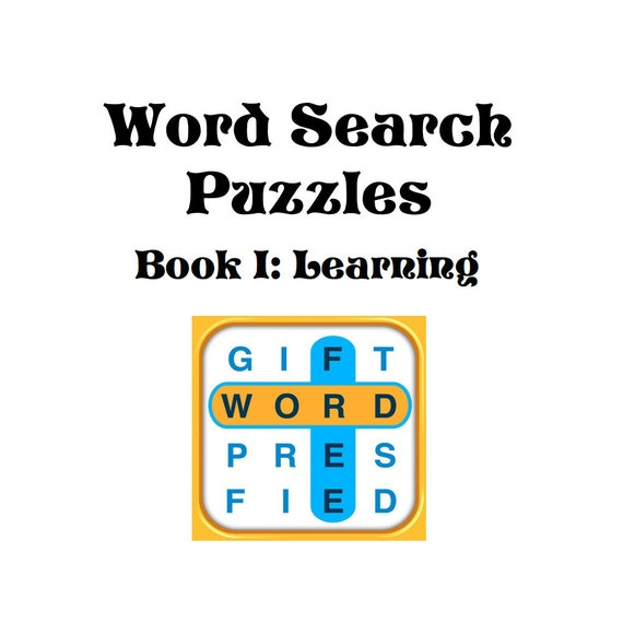 educational word search puzzle book pdf instant download etsy