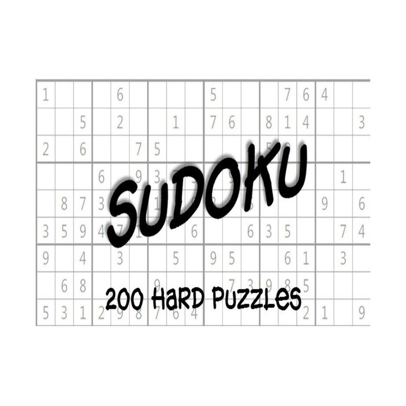 image regarding Hard Sudoku Puzzles Printable called Demanding Sudoku Puzzles e-Reserve Solution Keys 200 Printable Worksheets PDF Fast Down load