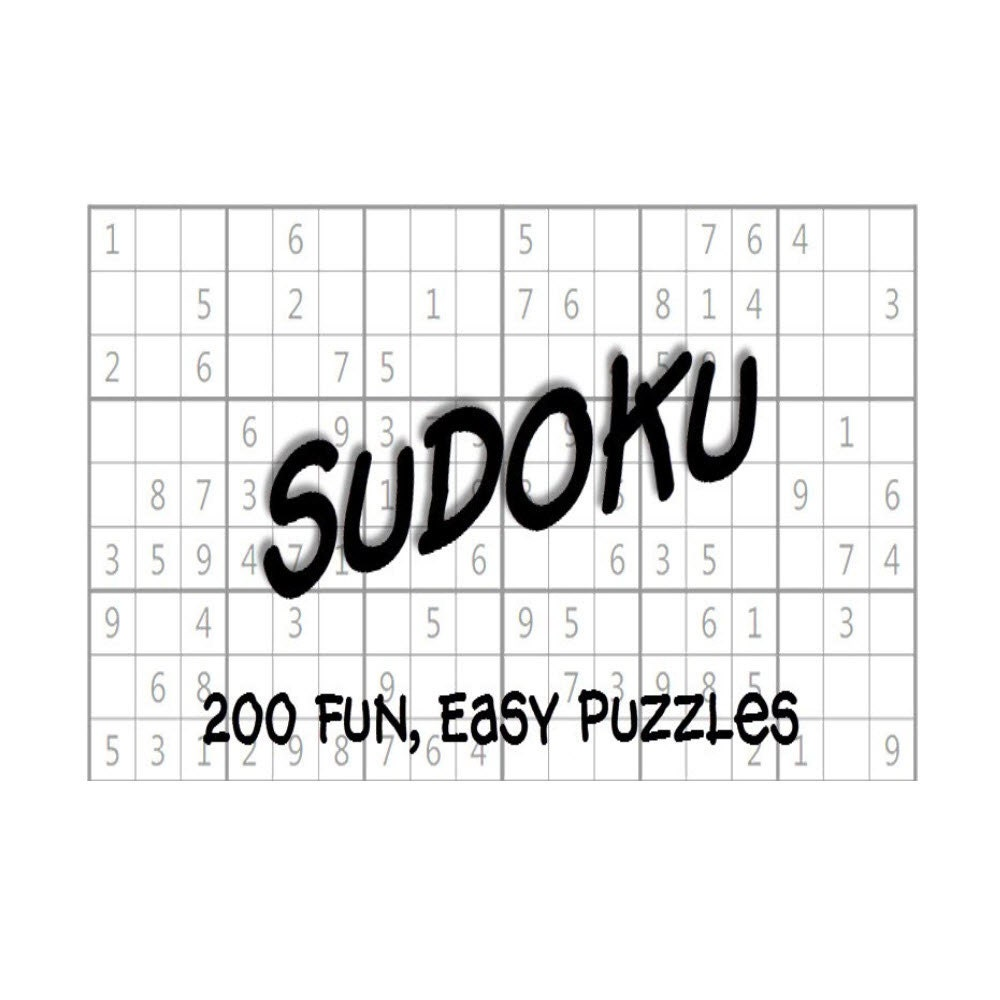 Easy Sudoku Puzzles Book Answer Keys 200 Printable PDF Instant Download