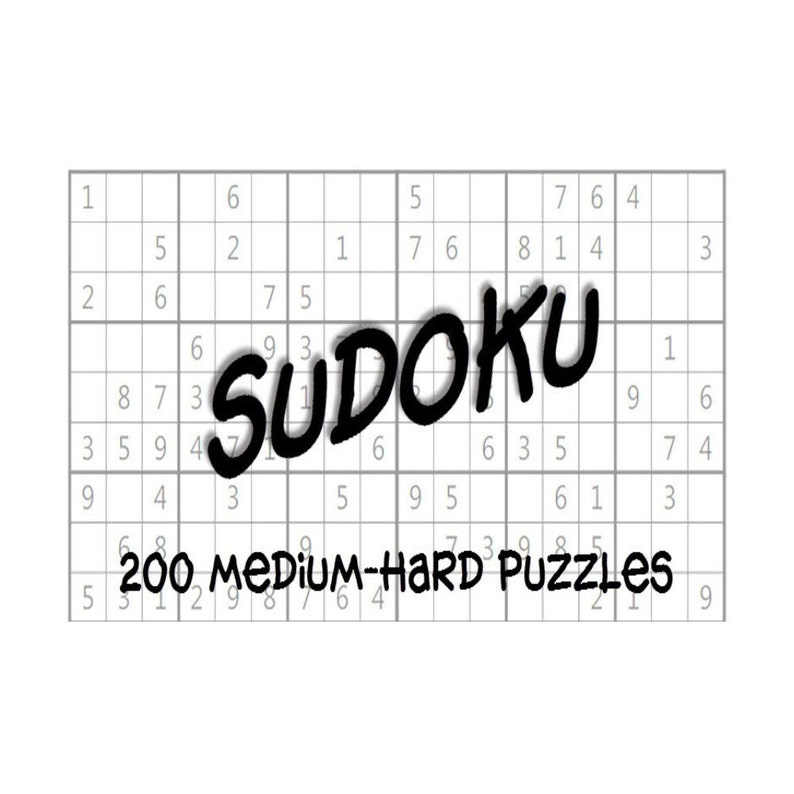 image regarding Medium Sudoku Printable identify Medium-Tough Sudoku Puzzles Alternative Keys e-Reserve 200 Printable PDF Fast Obtain