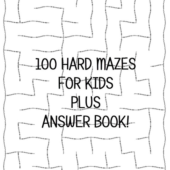 graphic regarding Printable Mazes for Kids identified as Complicated Mazes for Children 100 Printable Worksheets Alternative Keys PDF Fast Obtain