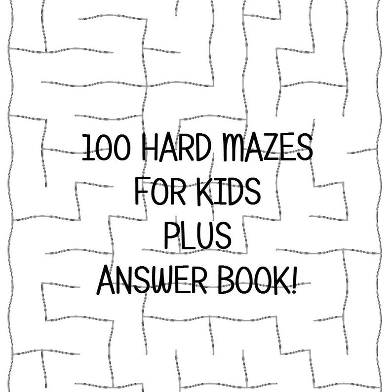 photograph regarding Difficult Mazes Printable named Difficult Mazes for Young children 100 Printable Worksheets Remedy Keys PDF Instantaneous Obtain