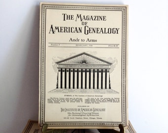 The Magazine Of American Genealogy 1930's, Immigrants Before 1750, Soldiers & Sailors In The Amer. Revolution, Antique Genealogy Book, 1930s