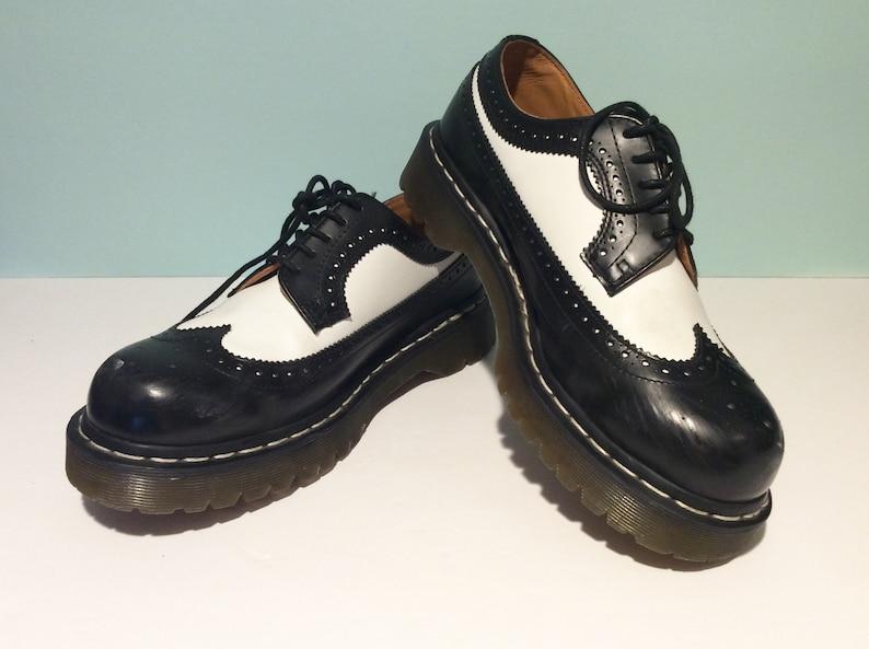 7158f89b686b9 Vintage Dr Martens Shoes Made In England Doc Martens Black & | Etsy