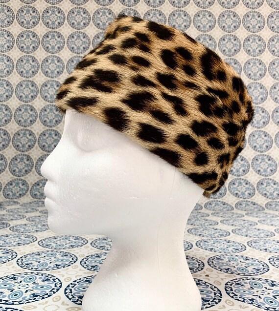Vintage Leopard Pillbox Hat, 1960's Jackie O Style