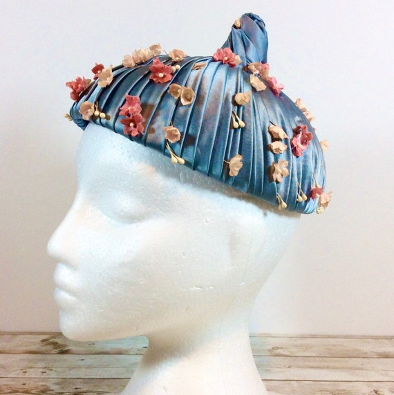 1940's Ladies Hat Silk from Tokyo, Beautiful Colle