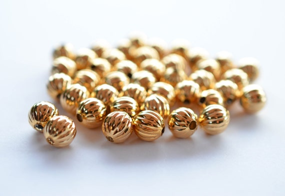 20 x 8mm Coppertone Metal Spacer//Choker Beads