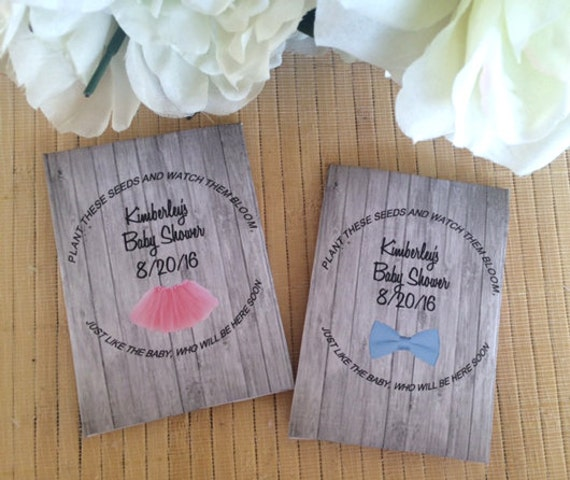 Baby Shower Seed Packets Tutu Baby Shower Bow Tie Baby Etsy