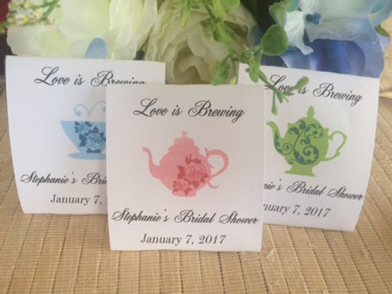 Bridal Shower favors tea party favors tea decor tea bag | Etsy