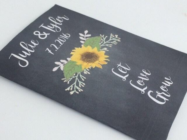 Sunflower Wedding Favors Sunflowers Seed Wedding Favors Etsy