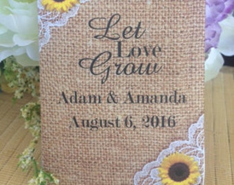 Seed packet favors | Etsy