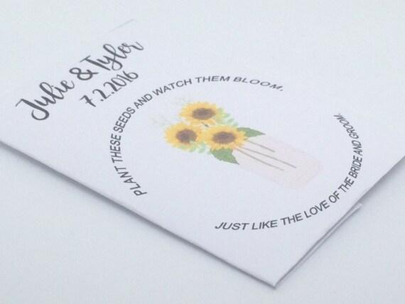 Sunflower Wedding Favors Sunflowers Vase Wedding Favors Etsy