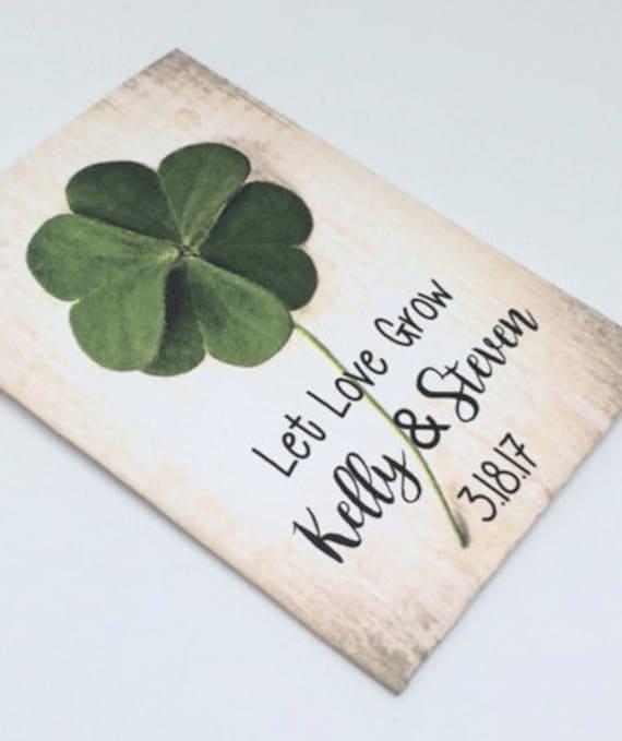 Irish Wedding Favors For St Patricks Day Wedding Shamrock Etsy