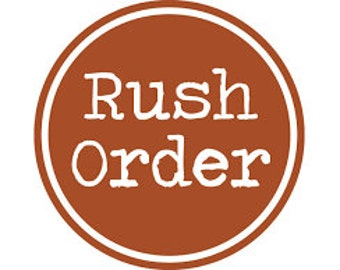 Only to be purchased when approved by seller -  RUSH ORDER Priority Shipping upgrade fee when First class is first purchased