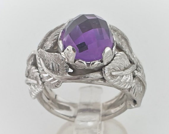 Handmade 925th Silver Ring with Amethyst