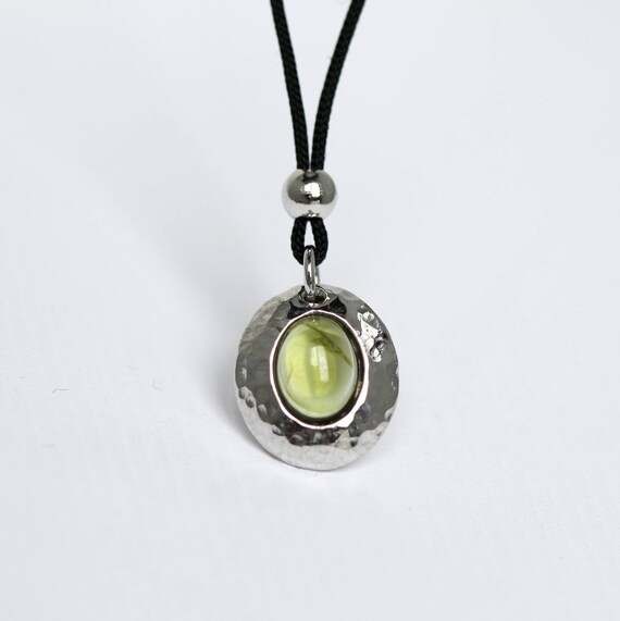 Silver pendant with NaturalRmaline