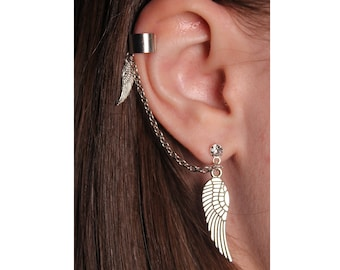 Sterling Silver Ear Cuff with Angel