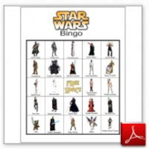 20 Printable Star Wars Bingo Cards