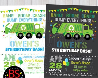 Garbage Truck Cupcake Topper Garbage Truck Birthday Party Etsy
