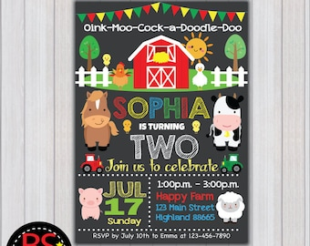 Barnyard Invitations Etsy