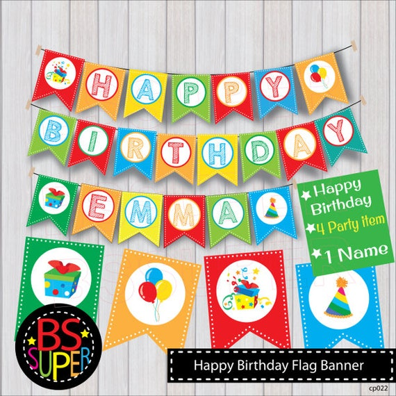happy birthday banner happy birthday party banner happy etsy