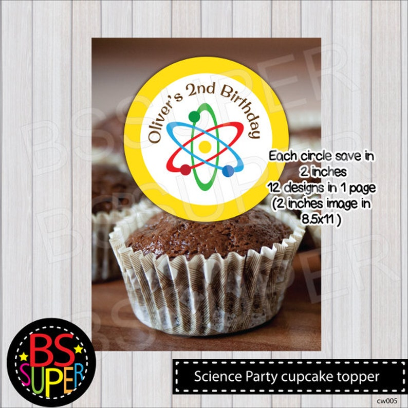 Science Party Cupcake Topper Mad Scientist Cake Topper | Etsy