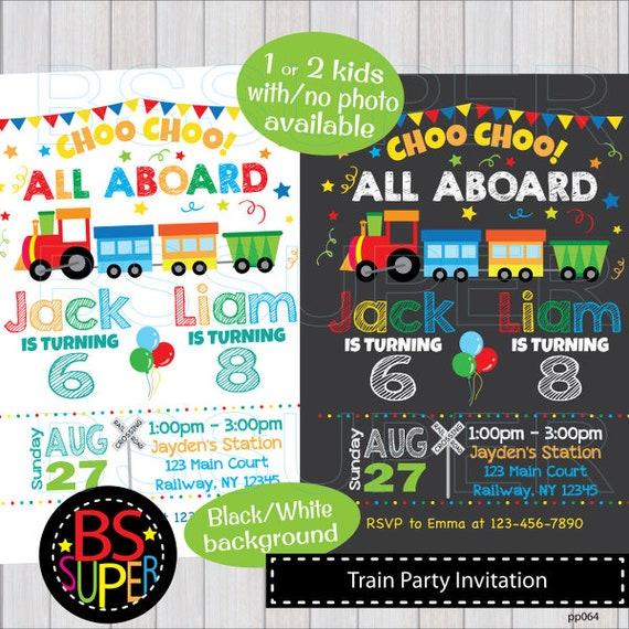 train birthday invitation train party invitations train etsy