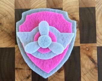 Paw Patrol Skye Pup Tag~Pup Badge~Paw Patrol Skye~Flying Pup~Pink Pup~Paw Patrol Skye Costume