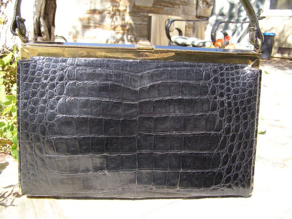 Wonderful Black Vassar Alligator Purse