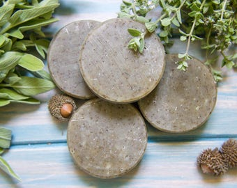 Biblical hyssop and Sage natural soap, handmade Israeli soap inspired by the Galilee