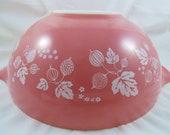 Vintage Pyrex Pink Gooseberry Cinderella Bowl 4 Qt. 444