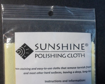 Bulk Pack of Six Sunshine Polishing Cloths for All Your Solid Metal Jewellery. Great for Sterling Silver earrings