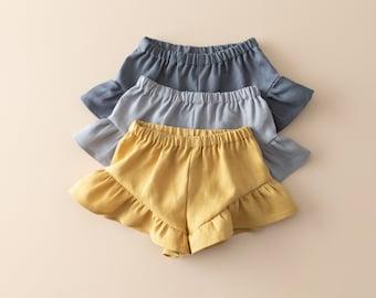 Ruffle Shorts PDF Sewing Pattern, Baby and Child, Girl's shorts sewing pattern, baby shorts sewing pattern, kids shorts sewing pattern