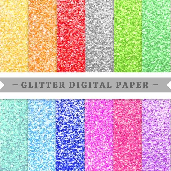 Premium Digital Paper Scrapbooking Paper Glitter Paper Etsy