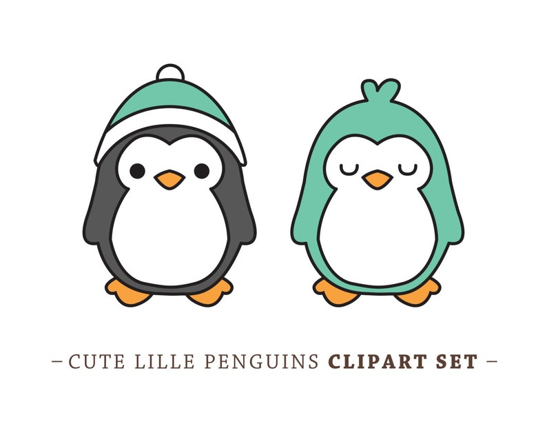 Kawaii Penguins Cute Penguin clip art Vector Penguins Premium Vector Penguin Clip Art High Quality Vectors Cute Baby Penguins