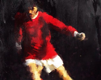 George Best, Football Player, Irish, Figurative Art, Fine Art Prints