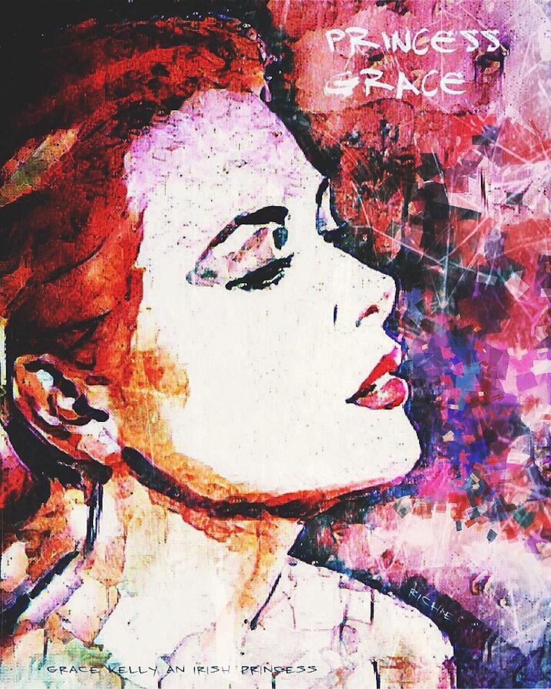 6948900a51 FREE SHIPPING Grace Kelly Portrait Pop Art Print Poster