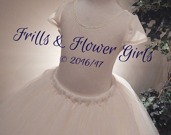 a46293c4a1 Ivory Flower Girl Top CAP Sleeves Ivory Stretch VELVET Leotard - Custom  made Girls Sizes 12 Mo up to Girls Size 8