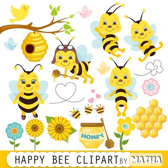 Honey bee clipart  Bee clipart bees clip art  6406bcf43