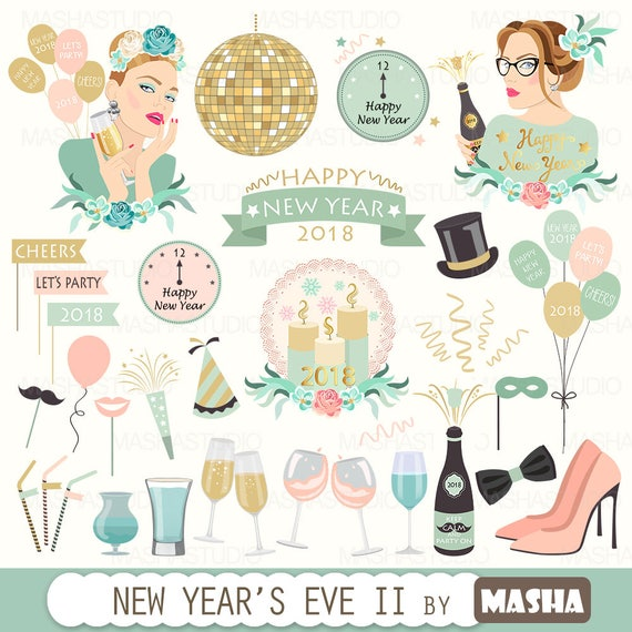 new year s eve clipart new year s eve ii clipart with new year rh etsystudio com fisherman's new years clipart new years clipart no background